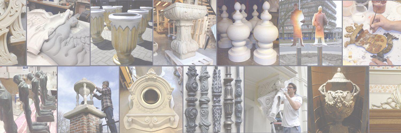 Restauratie, reproductie en reconstructie van beelden en ornamenten